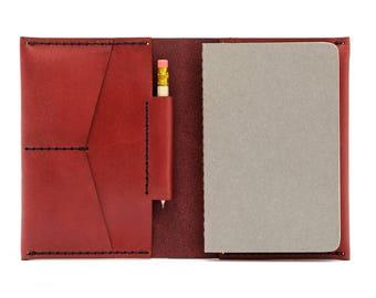 PASSPORT/NOTEBOOK WALLET  Leather Notebook  Leather Notebook Cover  Personalized Leather Leather Notebook Wallet Moleskin notebook included!