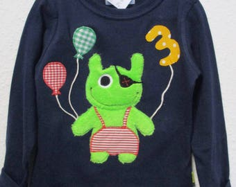 Birthday shirt with Application * Small monster *, Gr. 104