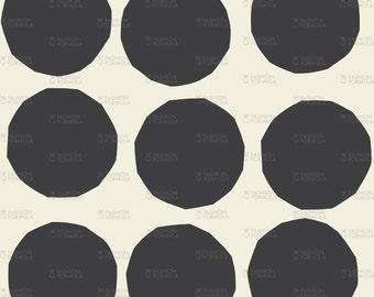 Polka Dot Paper Circles Fabric by RuthRobson