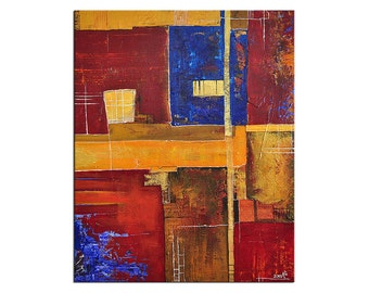 """Acrylic, abstract painting, Original Art by AG: """"KONTRAER I"""", Gallery of modern & contemporary  Art The Artmakers"""