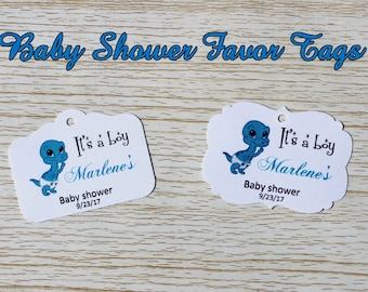 Personalized Baby Shower Favor Tags, Baby Shower Thank You Tags, Customized Baby Shower Favor Tags
