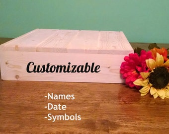 Wedding Cake Stand, Reclaimed wood, Customizable/Personalized Rustic Cake Stand, Country Wedding decor