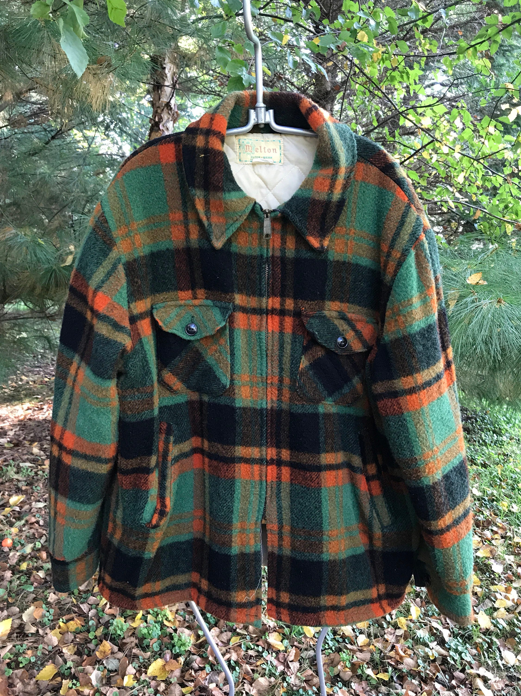 Vintage 50's Melton Unisex Wool Shirt/ Old School Hunting Shirt Men's M E2NsQ5HwaH