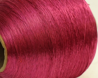 Large Vintage Spool Hot Pink Thread