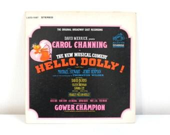 Hello Dolly LP, Hello Dolly Album, Hello Dolly Record, Original Broadway Cast Recording, Carol Channing, Vintage LP, Broadway LP, Broadway