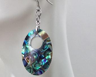 Abalone Shell Earrings, Abalone Earrings, Shell Earrings, Abalone, Mother of Pearl Earrings, Paua Earrings, Blue Paua Earrings, MOP Earrings