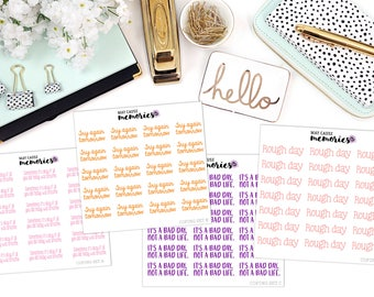 COPING MINI SETS Paper Planner Stickers!