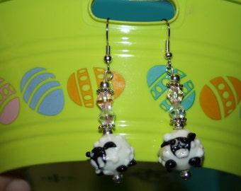 Glass Sheep Earrings