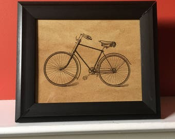 Framed Second Hand Bicycle Sketch