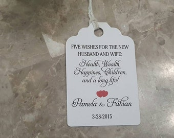 Personalized Favor Tags 2 1/2'', Wedding tags, Thank You tags, Favor tags, Gift tags, Bridal Shower Favor Tags, jordan almonds