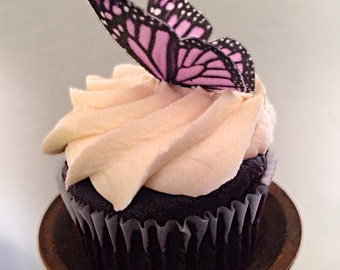 Double-Sided Edible 3D Wafer Paper Medium Monarch Butterflies for Cakes, Cupcakes or Cookies