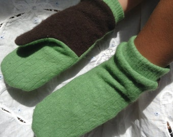 """Winter is the wrong time to be looking for your """"winter mittens,"""" look now and buy these soft angora/wool mittens for your hands."""