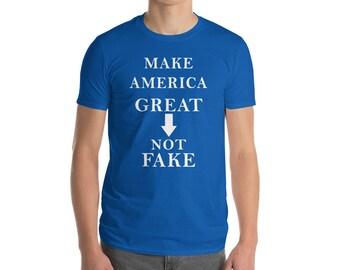 Machen Sie Amerika große nicht Fake-Kurzarm-t-shirt politischen Shirt Protest Shirt Gerechtigkeit Shirt