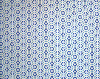 STORE CLOSING SALE - End of Bolt - Moda, Hubba Hubba, Blue, Me & My Sister Designs, 100% Cotton Quilt Fabric, Quilting Fabric, Geometric