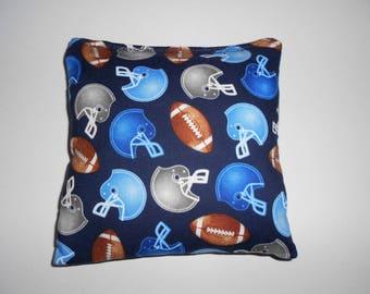 Blue Footballs Corn hole Bags