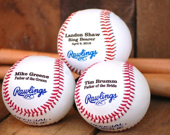 Personalized Baseball, Father of the Bride/Groom, Baseball Personalized Wedding Gift, Groomsmen Baseball, Wedding Keepsake Best Man Baseball