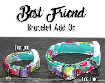 Best Friend Matching Bracelet Upgrade, Matching Bracelets, BFF Bracelet, Friendship Bracelet, Best Friends Forever Dog Collar Upgrade, BFF
