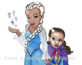 Elsa and your Girl 8x10 art print