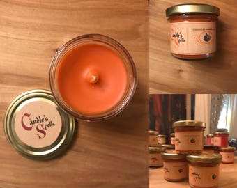 "Bougie Artisanale ""Cinderella's Pumpkin Delight"" 125 ml"