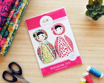 Babushka Doll Pattern HARD COPY Paper Sewing Pattern. Home Decor, Doorstop, Book Ends, How to Make Russian Matryoshka Dolls