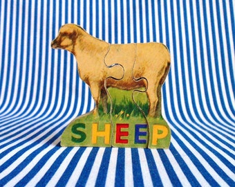 Vintage Mini Sheep Puzzle