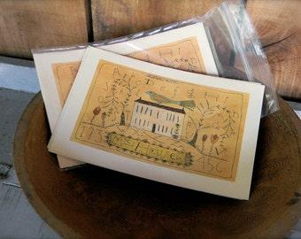 My House - LIMITED EDITION Folk Art Notecards - from Notforgotten Farm™