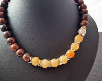 Autumn Brown necklace