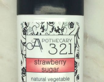 Strawberry Sugar Natural Deodorant, Aluminum Free, Paraben Free Vegan Deodorant Strawberry Scented