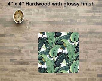 Banana Leaf Drink Coaster, Drink Coaster, Beverage Coaster,Wood Coaster,
