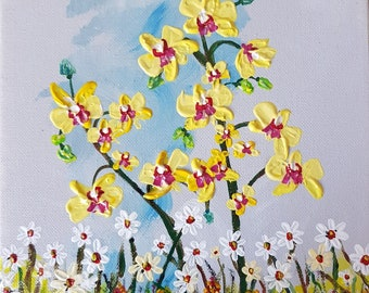 Orchids (Phalaenopsis) and Daisies