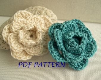 Elegant triple layer flower pattern - crocheted flower pattern - pdf pattern - home decor - wedding decor - country style