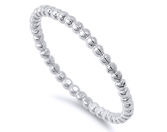 Women Sterling Silver Womens Wedding Ring Rope Design Wedding Band(SNRP141902-HP)