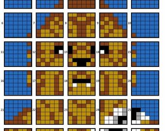 Chewbacca quilt pattern
