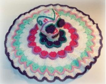Sugar Skull Lovey Crochet Pattern
