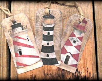 Lighthouse Hang Tags (Set of 6)