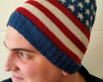 Fleece-Lined Stars and Stripes Hat