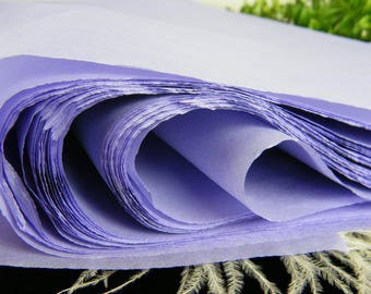 "Lavender 24 Tissue Paper Sheets - Pastel Purple - 20"" X 30"" - Lavender Wedding Supplies - Gift Wrapping Tissue - Favor Box Packaging"