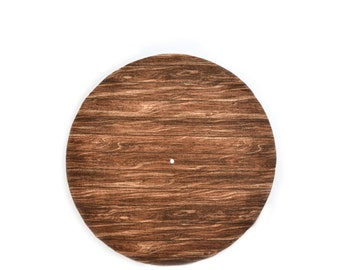 "Wooden Slipmats 12"" Turntable slipmat dj equipment turntable accessories wood grain handmade to order upcycled material OOAK"
