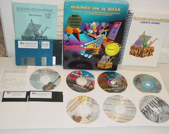 """Vintage """"Band In a Box"""" Pro V.12 Music Audio PC Software for Windows 95/98"""