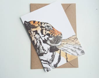 Tiger    A6 Greetings Card