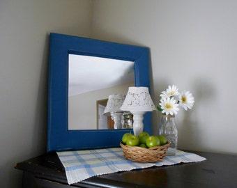 Rustic Farmhouse Mirror Blue Mirror