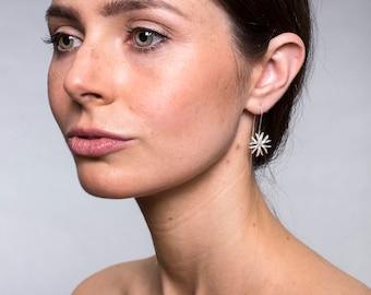Handmade Sterling Silver Star Anise Earrings