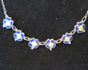 very nice Pansy Sterling Silver Necklace
