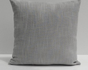 Gray Pillow, Throw Pillow Cover, Decorative Pillow Cover, Cushion Cover, Pillowcase, Accent Pillow, Toss Pillow, Textured, Linen Pillow