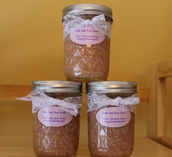 Pink Salt Foot Scrub, All Natural and Vegan