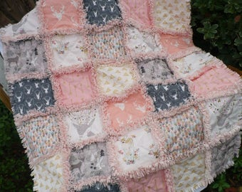 Custom Baby Rag Quilt Made to Order Reversible Baby Crib Quilt Design Your Own Baby Quilt You Choose Colors Theme Size Baby Shower Gift