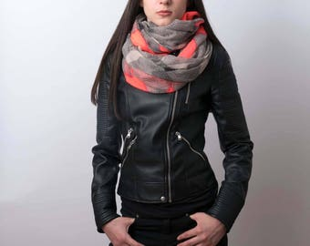 Infinity scarf, graphic tube scarf, snood, loop scarf, women's tube scarf, ladies scarf, tube scarf, infinity snood, scarf, infinity snood