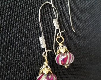 Swirls and sparkles drop earrings
