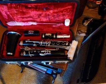 Vintage Hsinghai B Flat Clarinet, Original Case, Accessories, Musical Instruments