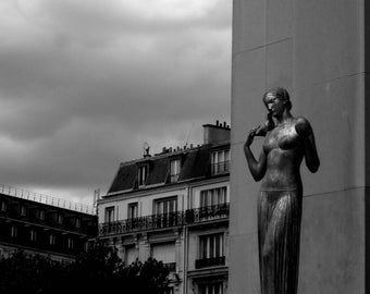 The woman and bird. Paris, August, 2008